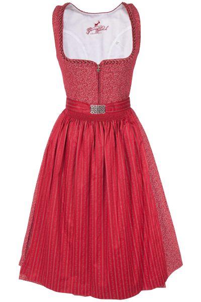 Midi Dirndl Lisa aus Baumwolle in rot