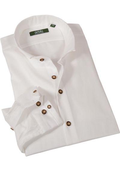 arido Trachtenhemd in creme mit Stehkragen