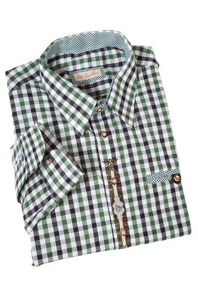 Trachtenhemd mit Liegekragen in trachtengrün