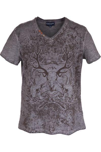 Herren Trachten Shirt in grau von Krüger