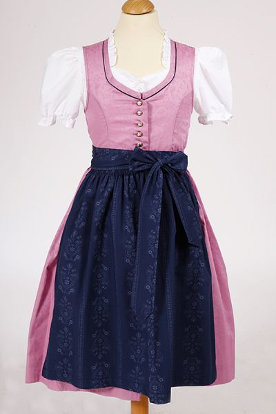 traditionelles Kinderdirndl Lucy in rosa aus Baumwolle