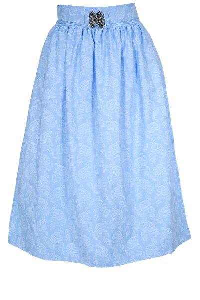 Dirndlschürze aus Baumwolle in hellblau 70 cm