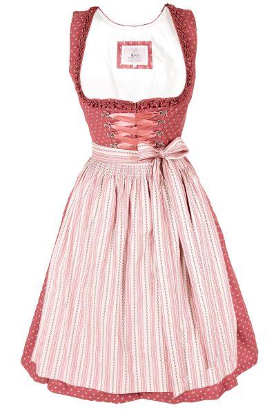 Mini Dirndl Solana in altbeere & rosa