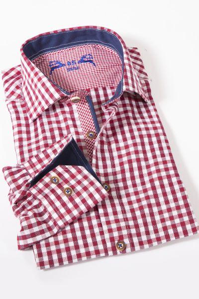 Trachtenhemd leicht kariert rot und weiß  1Trachtenhemd leicht kariert rot und weiß  2