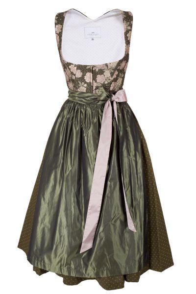 Loden Frey Dirndl Thalwil in oliv und rosa