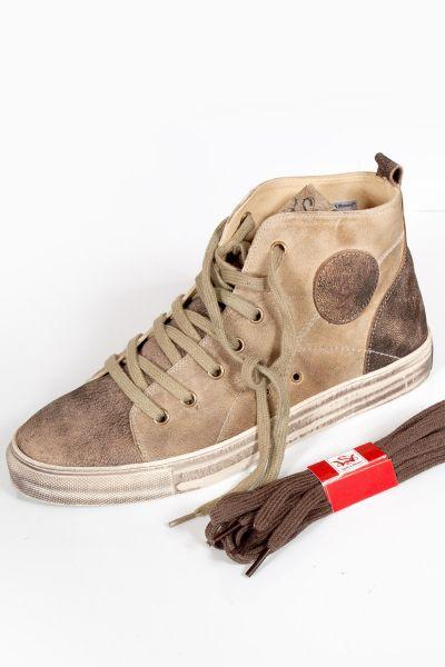 Trachten Sneaker aus Leder in sand hellbraun