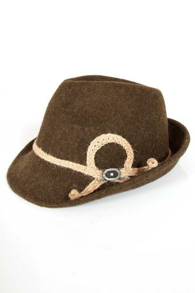 Kinder Trachtenhut in braun Hut für Buben