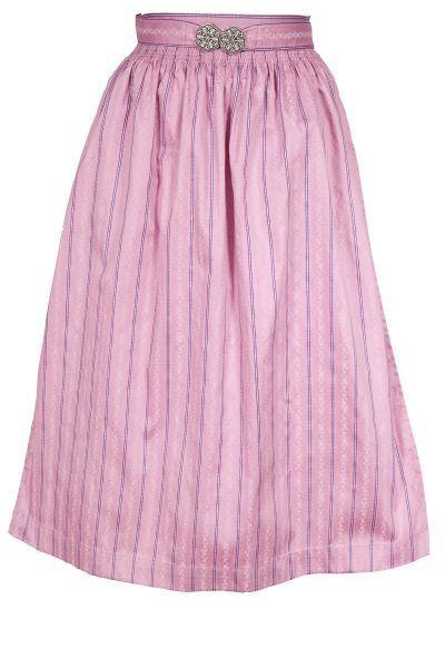 Dirndlschürze aus Baumwolle in rosa Midi 70