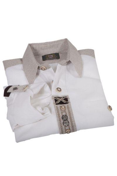 Landhaus Trachtenhemd in weiß