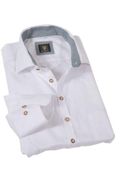 Trachtenhemd weiß von Orbis strukturiert und günstig