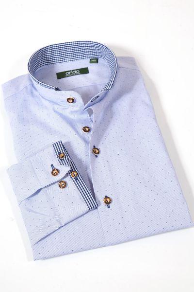 Herren Trachtenhemd von arido in hellblau mit Muster
