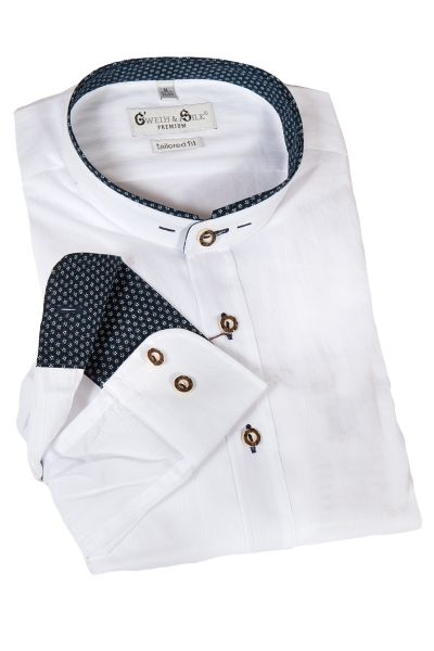Trachtenhemd Pilsensee in weiß