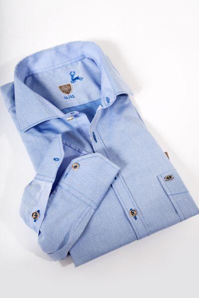 Herren Trachtenhemd in wasserblau von OS-Trachten