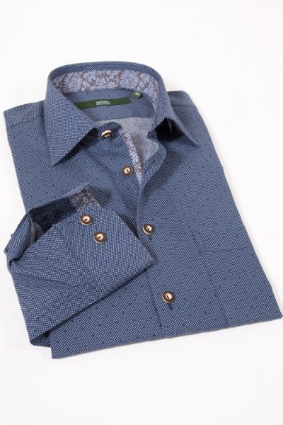 Elegantes Trachtenhemd in dunkelblau von arido