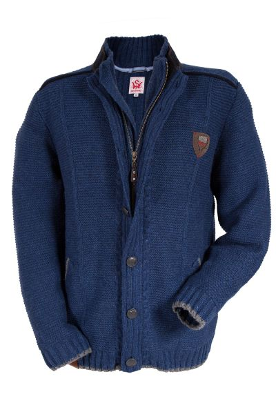 Herren Trachten Strickjacke Hechingen in blau