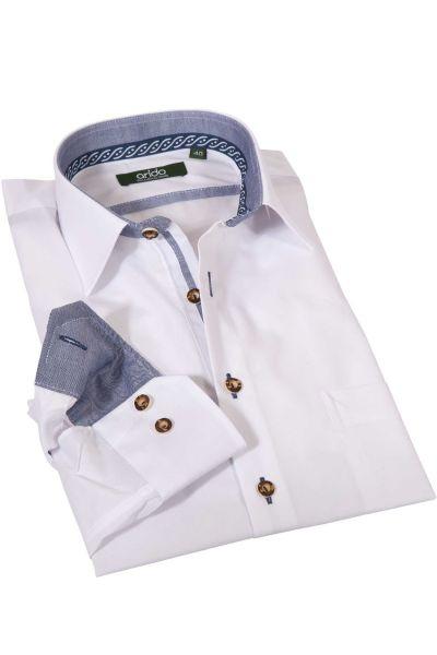 arido Trachtenhemd in weiß mit Hornknöpfen