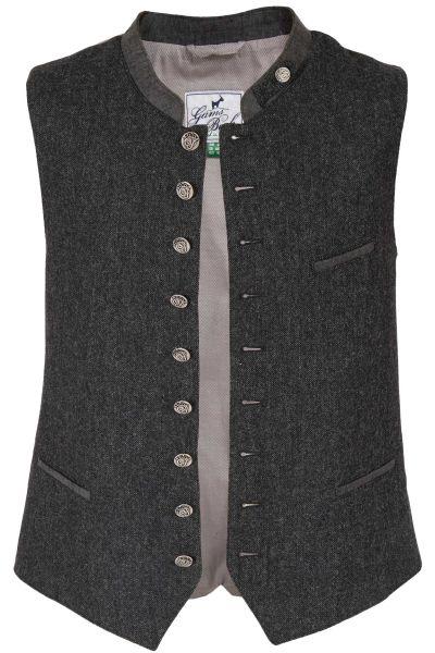 Trachtenweste aus Loden im Tweed Muster in grau