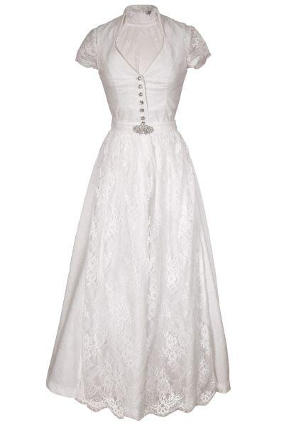 Braut-Dirndl Bianka in weiß mit Bluse