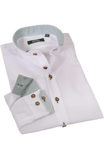 Exklusives Trachtenhemd in weiß mit grün von arido