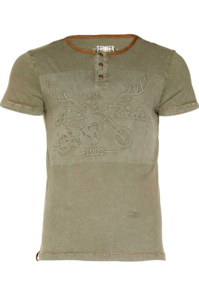 TrachtenShirt Karl rockig in oliv
