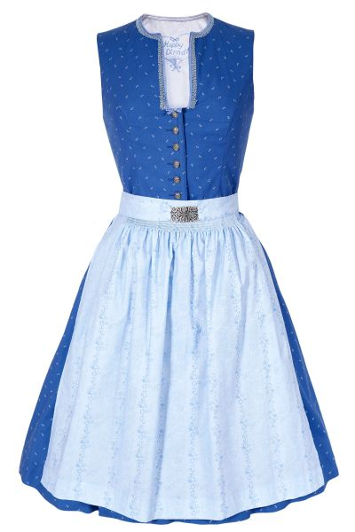 Mini Dirndl Viktoria aus Baumwolle in blau