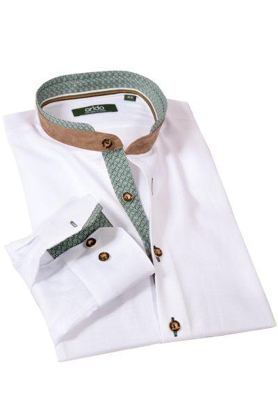 arido Trachtenhemd edel in weiß mit grün