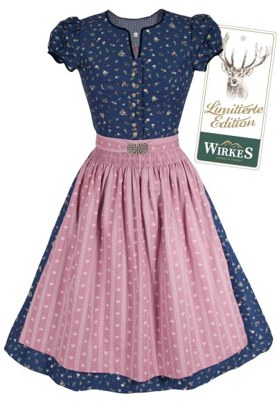 Dunkelblaues Mini Dirndl im Vintage Look Limited Edtion