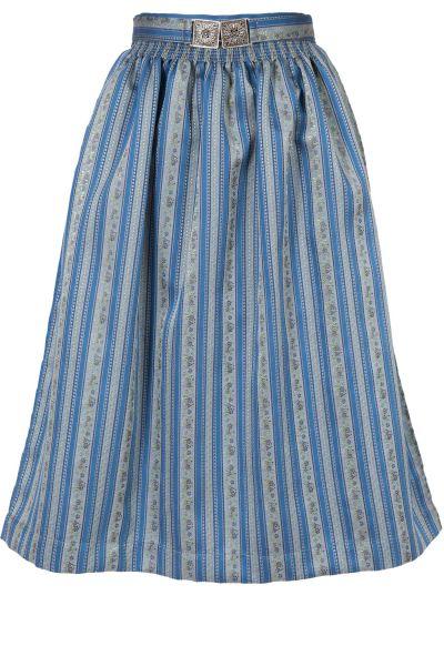Dirndlschürze Karola Midi 70 edel in blau