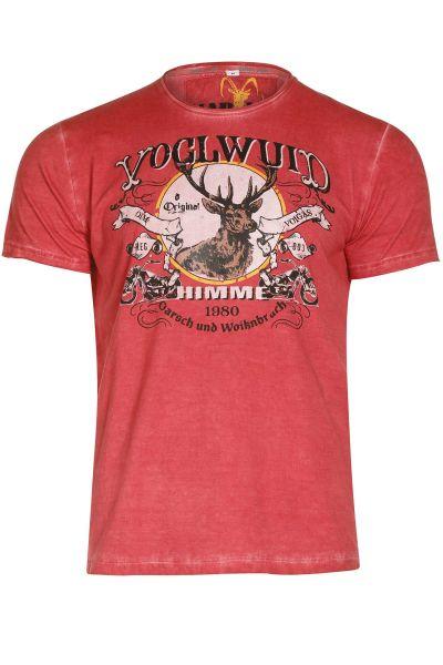 Herren Trachten T-Shirt Voglwuid in rot