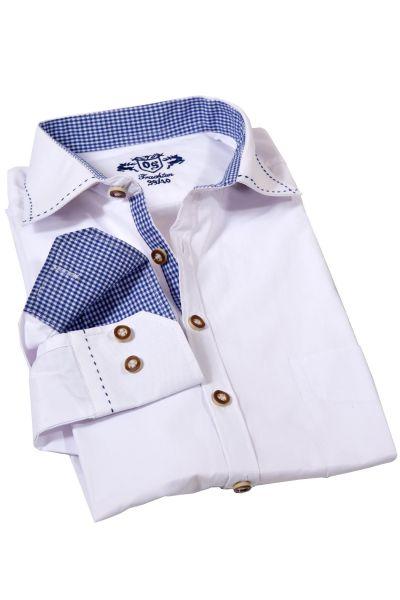 Trachtenhemd von Orbis in weiß mit blau - günstig