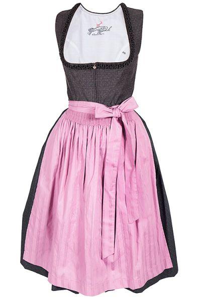 405ccac6f6380a Midi Dirndl Lisa in grau und rosa ganz dezent | Wirkes