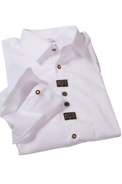 Trachtenhemd in weiß mit Landhaus Elementen