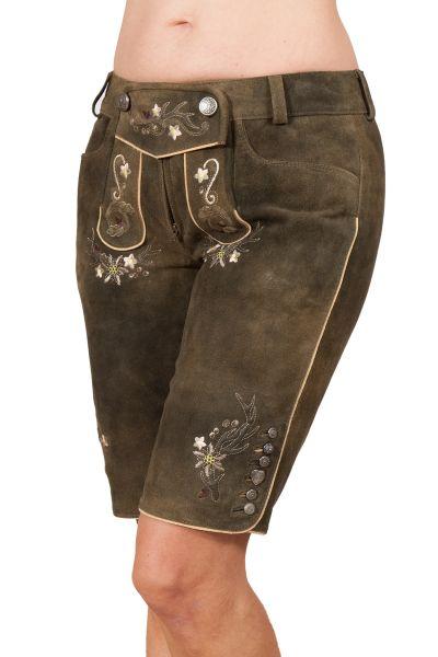 Lederhose Pardis für Damen in dunkelbraun Variante
