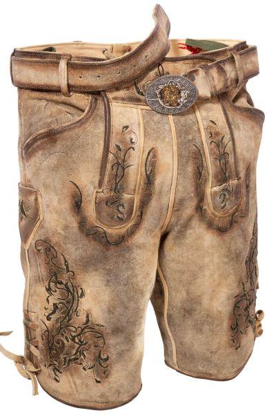 Trachten Lederhose kurz für Herren in natur