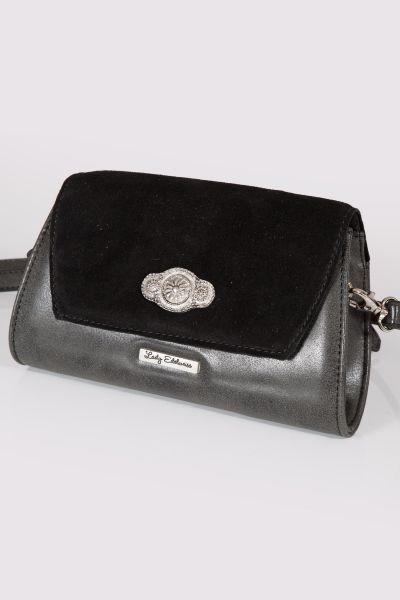 Trachtentasche in schwarz als Clutch zum umhängen