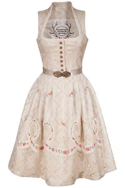 Brautdirndl in creme mit Vintage und Glamour