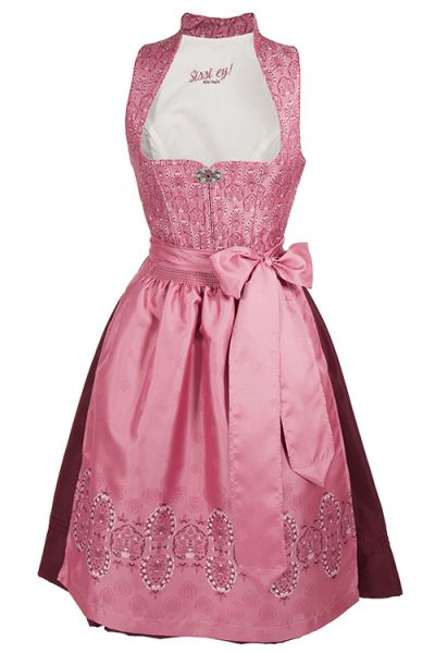 Midi Dirndl Nicki noel in beere altrosa traditionell 1