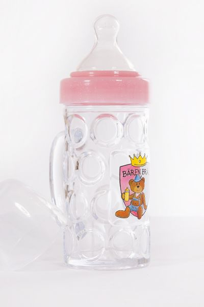 Trinkflasche Der Nuckelkrug rosa Bierkrug 1