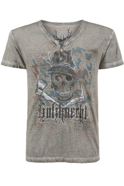 Herren Trachten T-Shirt Knecht Bayern in grau