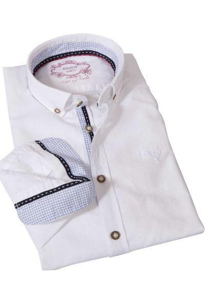Trachtenhemd aus Leinen in weiß von pure
