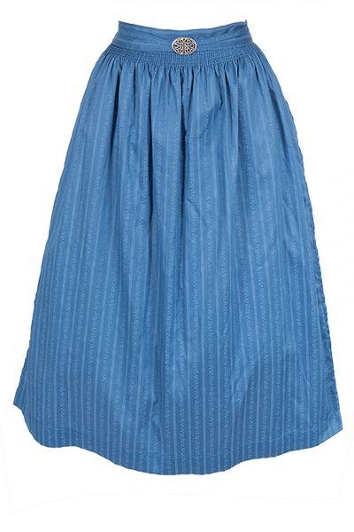 Dirndlschürze in blau aus Baumwolle 70 cm
