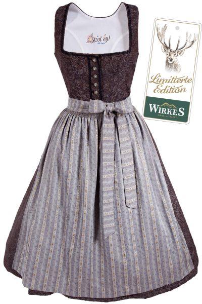 Edles Vintage Dirndl Romina in anthrazit und grau Lim Edition