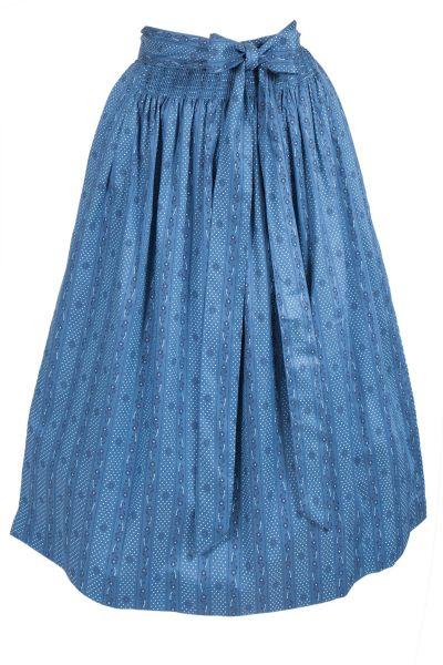 Dirndlschürze Lisalinda blau aus Baumwolle
