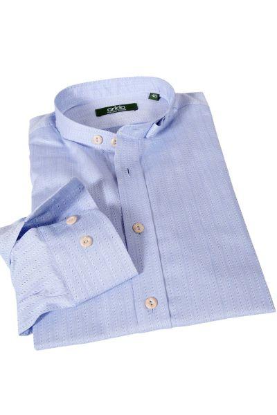arido Trachtenhemd in hellblau mit Stehkragen