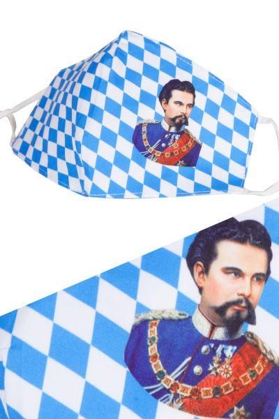MNS Mundbedeckung Bayern Raute mit König Ludwig