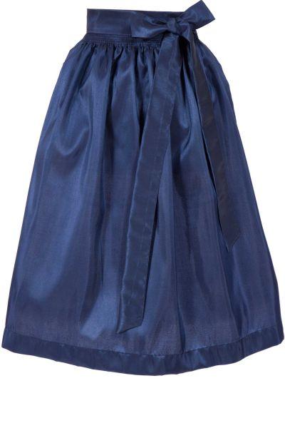 Dirndlschürze aus Taft in dunkelblau mit Glanz