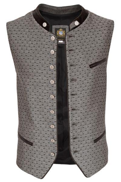 Trachtenweste in silber grau mit edlem Muster