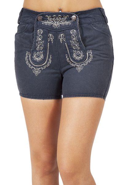 Trachten Jeans Shorts Ilsa in dunkelblau von Lekra