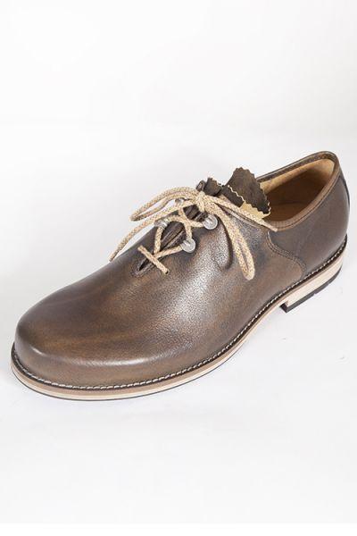 Trachten Schuhe für Herren von Dirndl + Bua in oliv ahorn vorn