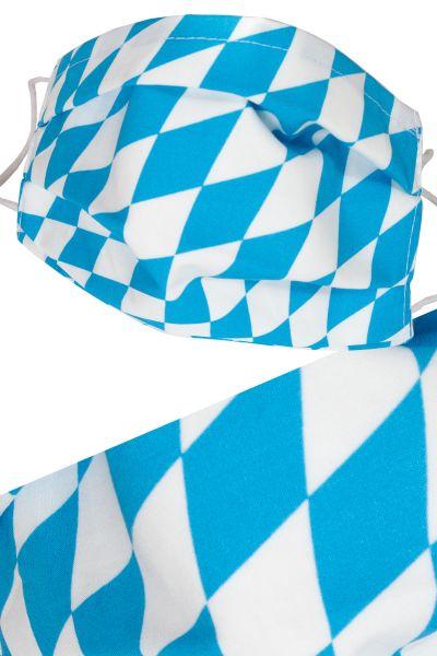 Bayern Raute Faltmaske aus Baumwolle mit Flies